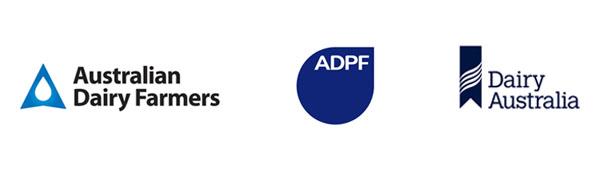 Australian Dairy Farmers, ADPF, Dairy Australia logos
